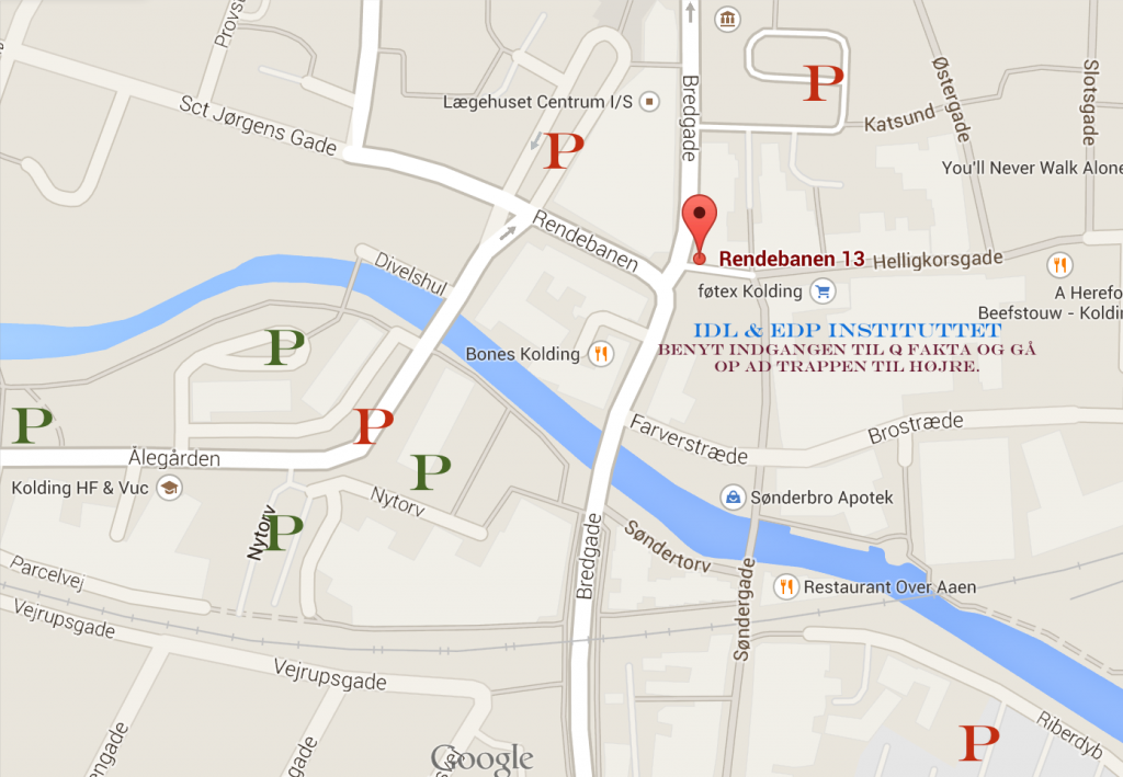 Kort over Kolding centrum